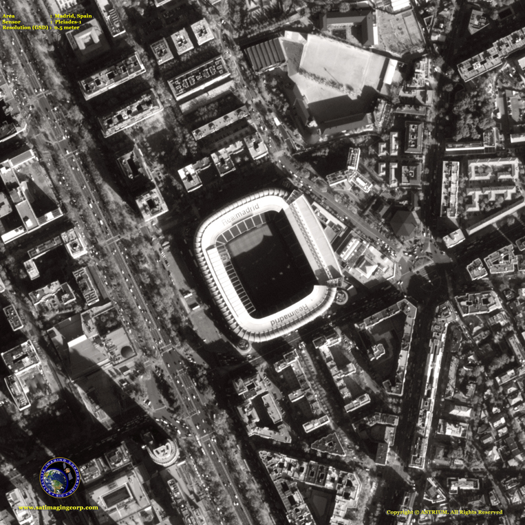 Pleiades-1 Satellite Image of Madrid
