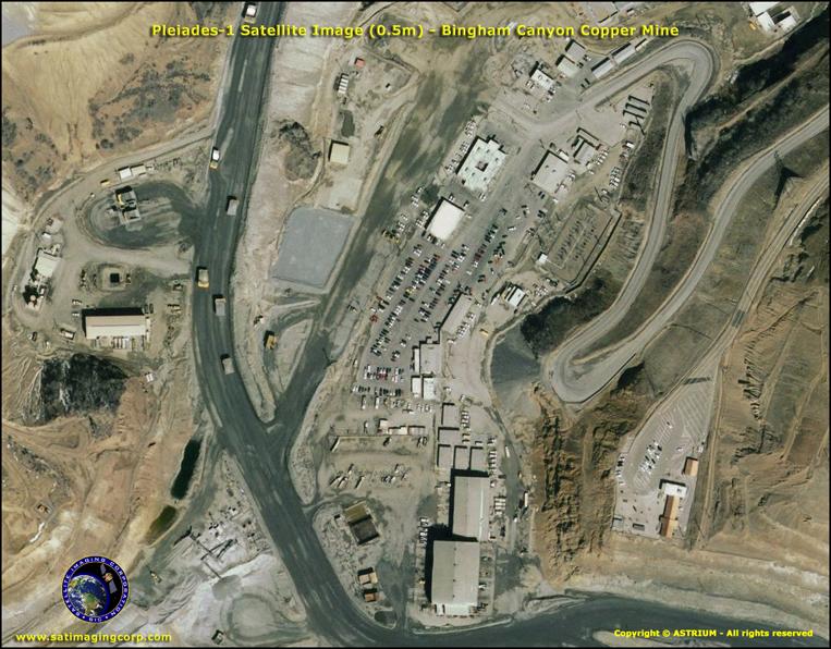 Pleiades-1 Satellite Image of Utah Mining