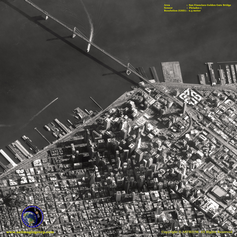 Pleiades-1 Satellite Image of San Francisco