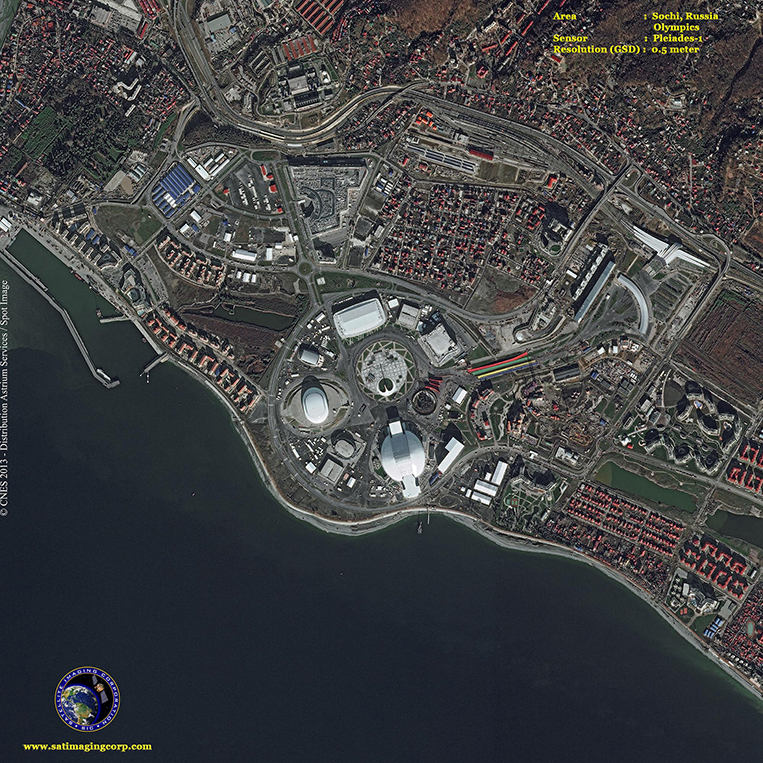 Pleiades-1 Satellite Image of the Sochi Winter Olympics