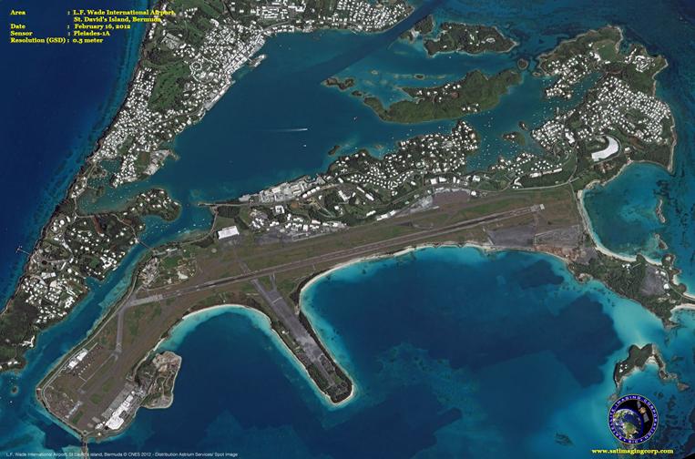 Pleiades-1A Satellite Image of St. David's Island (Bermuda)