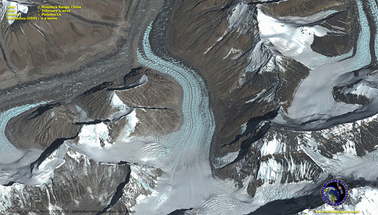 Pleiades-1A Satellite Image of the Himalaya Range