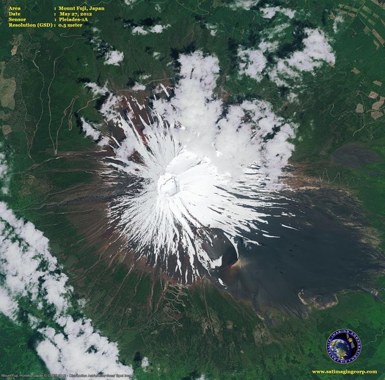 Pleiades-1A Satellite Image of Mount Fuji