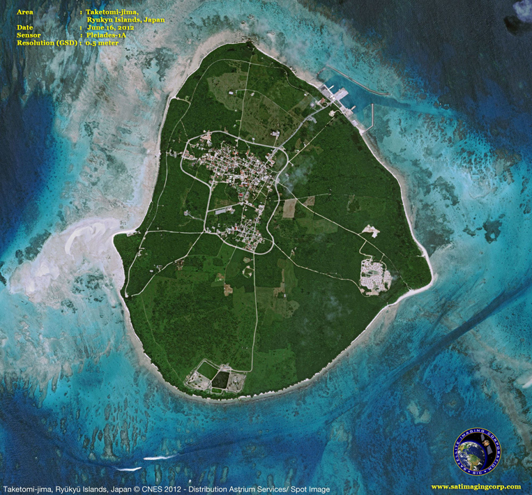 Pleiades-1A Satellite Image of Taketomi-jima