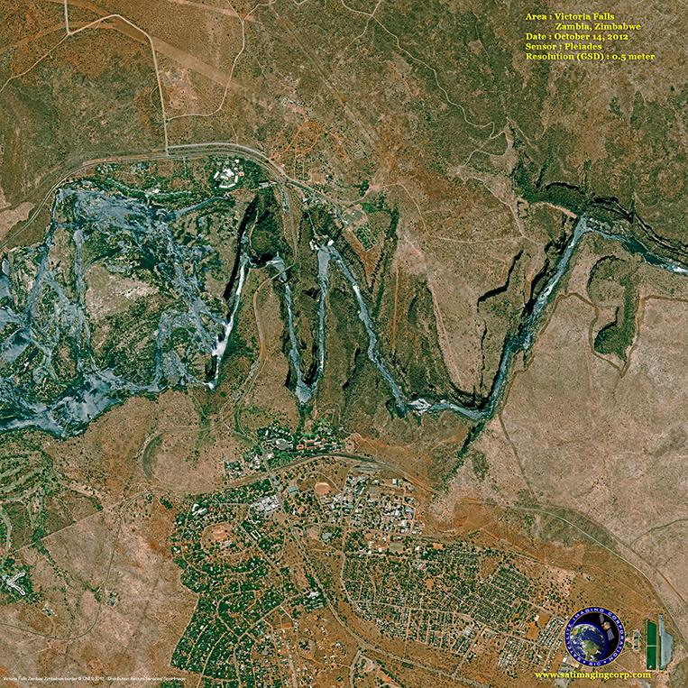 Pleiades-1 Satellite Image of Victoria Falls