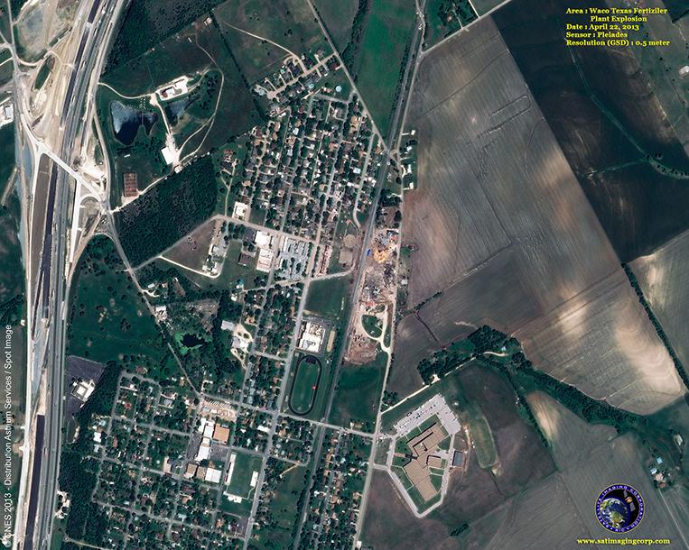 Pleiades-1 Satellite Image of West, Texas