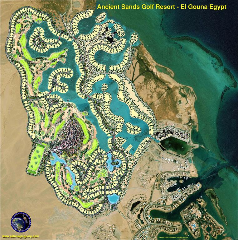QuickBird Satellite Image of Ancient Sands Golf Resort