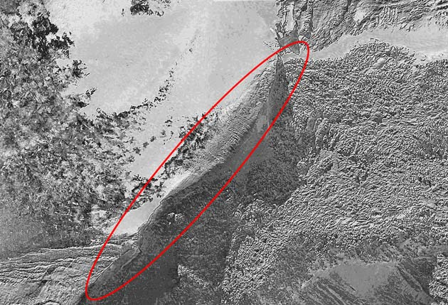 Satellite Image of Ararat Anomaly