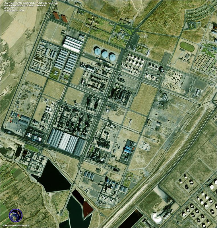 Satellite Image - Arak, Iran