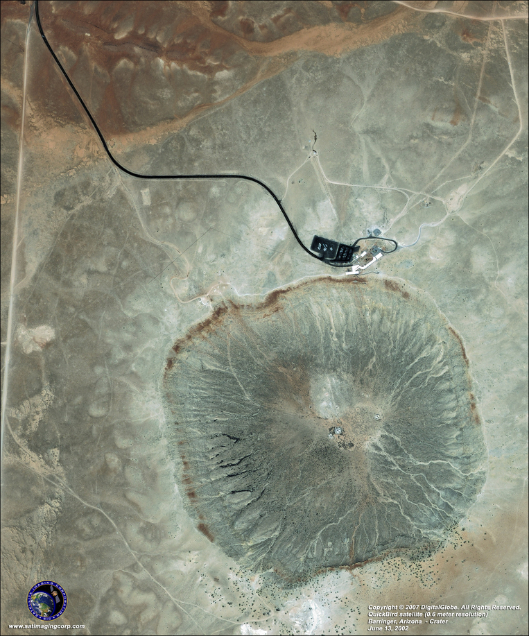 Satellite Picture - Barringer Meteor Crater, Arizona