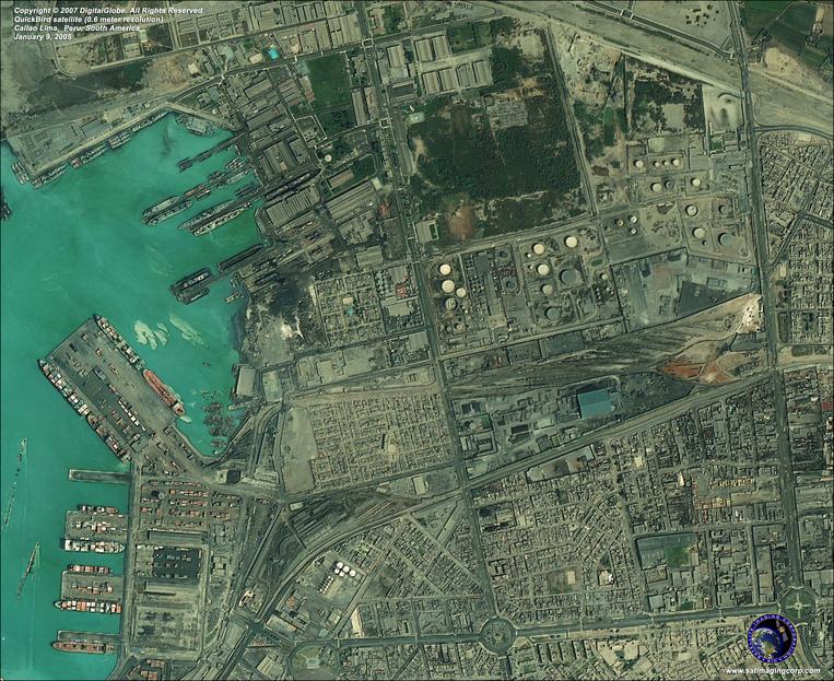 Satellite Image - Callao (Lima), Peru