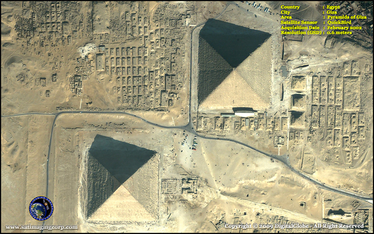 QuickBird Satellite Image of the Giza Pyramids