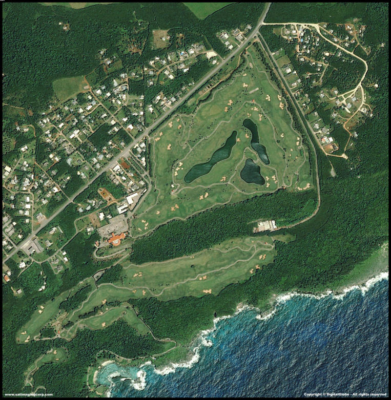 QuickBird Satellite Image of Guam - Mangilao Golf Resort