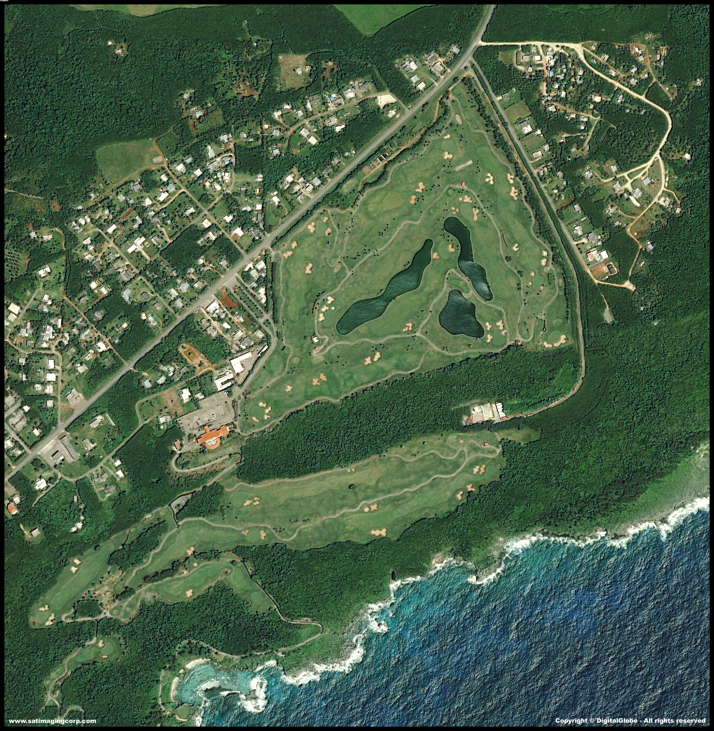 QuickBird Satellite Image Mangilao Golf Resort | Satellite ...