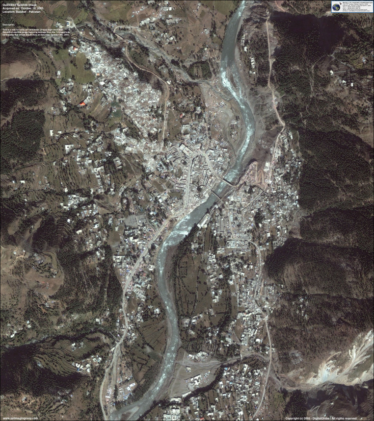 QuickBird Satellite Image of Balakot, Pakistan