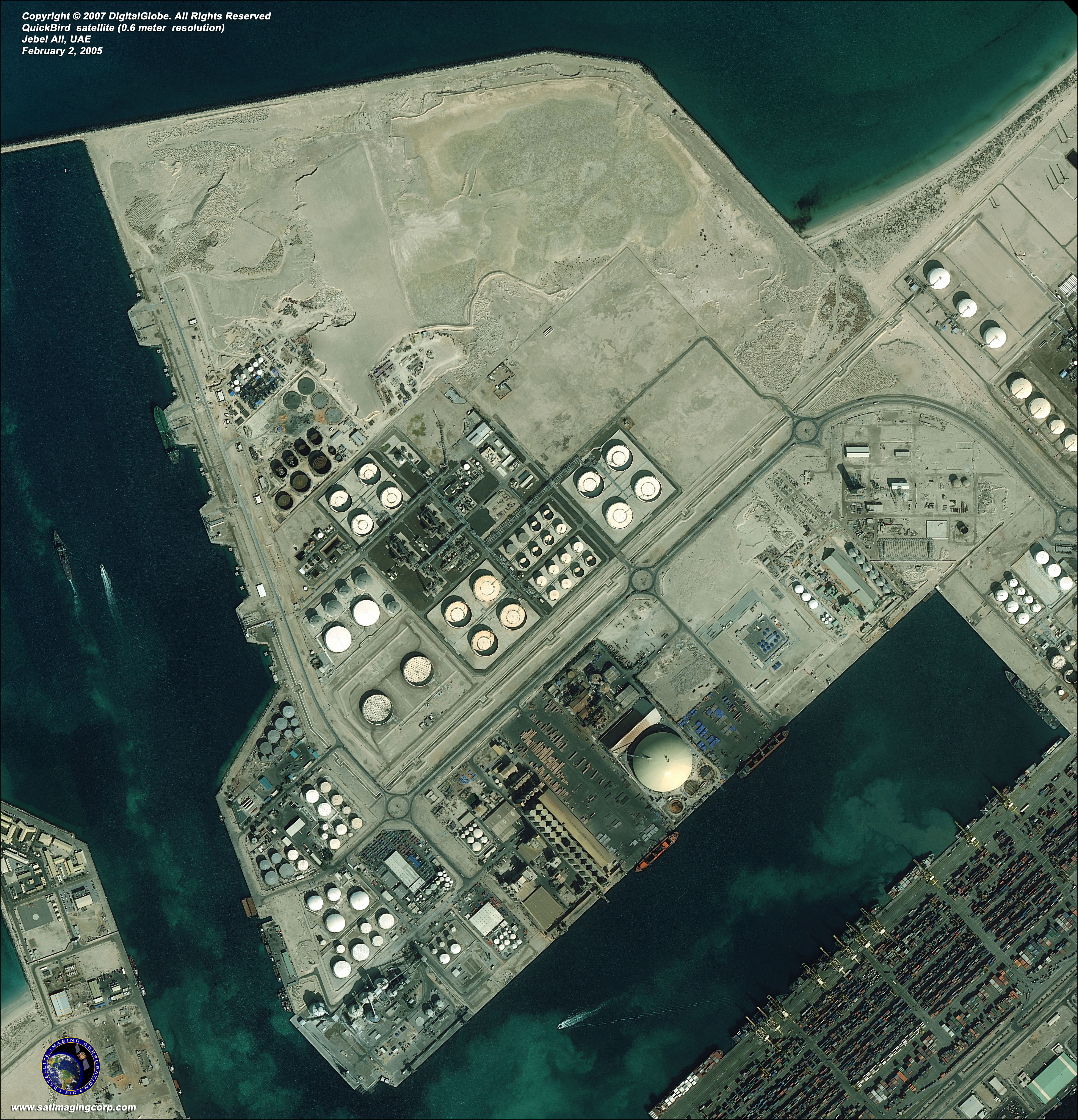Quickbird Satellite Image Of Jebel Ali Dubai Satellite