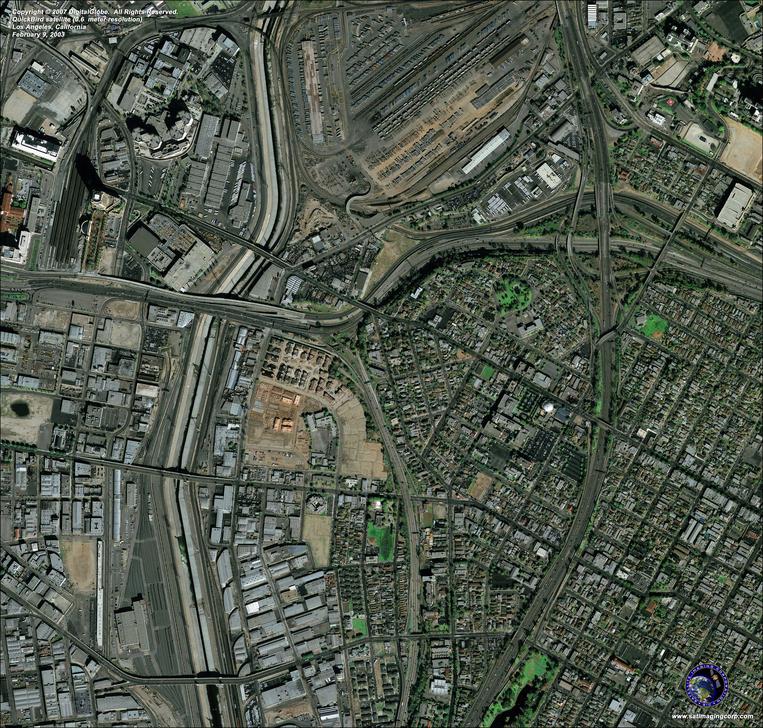 Quickbird Satellite Image Los Angeles  California