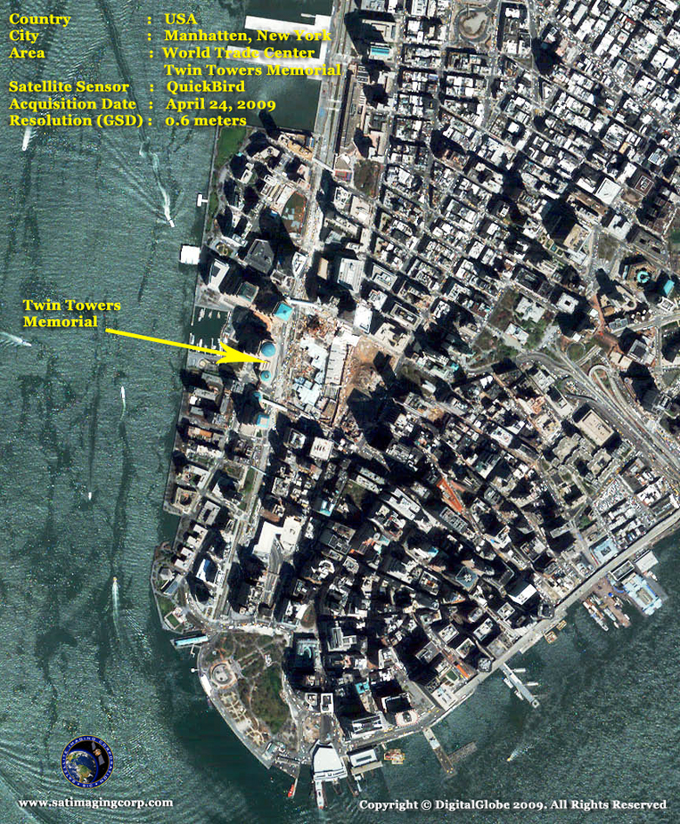QuickBird Satellite Image of Manhattan
