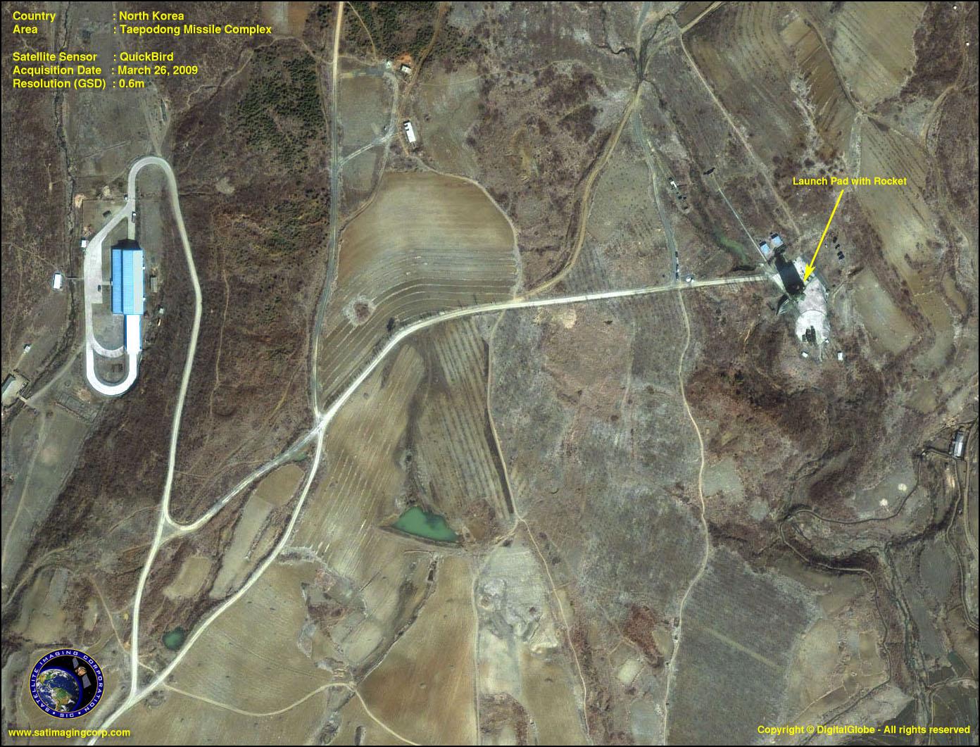 Quickbird Image Taepodong Missile Complex Satellite