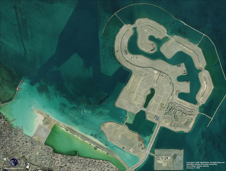 Satellite Photo - Port of Mina - Salman, Bahrain