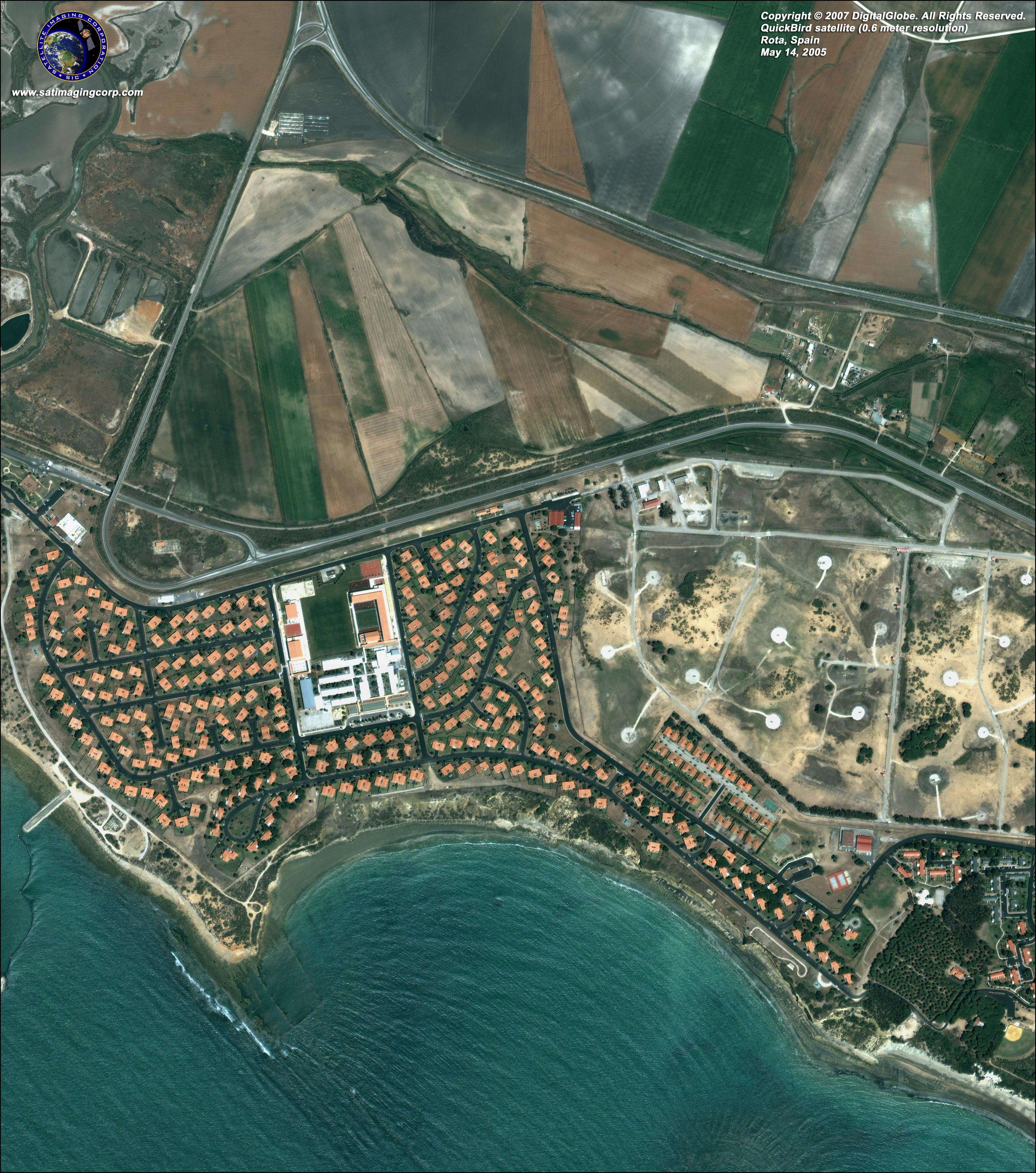 Satellite Map Of Rota Spain Satellite Imaging Corp
