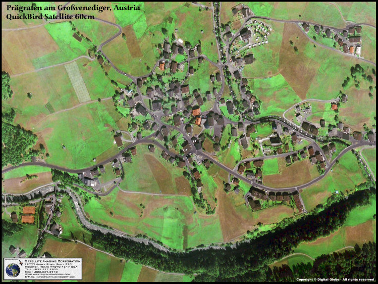 QuickBird Satellite Image of Praegraten, Austria