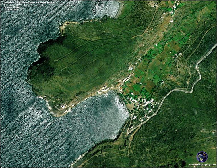 Satellite Image - Serifos, Greece