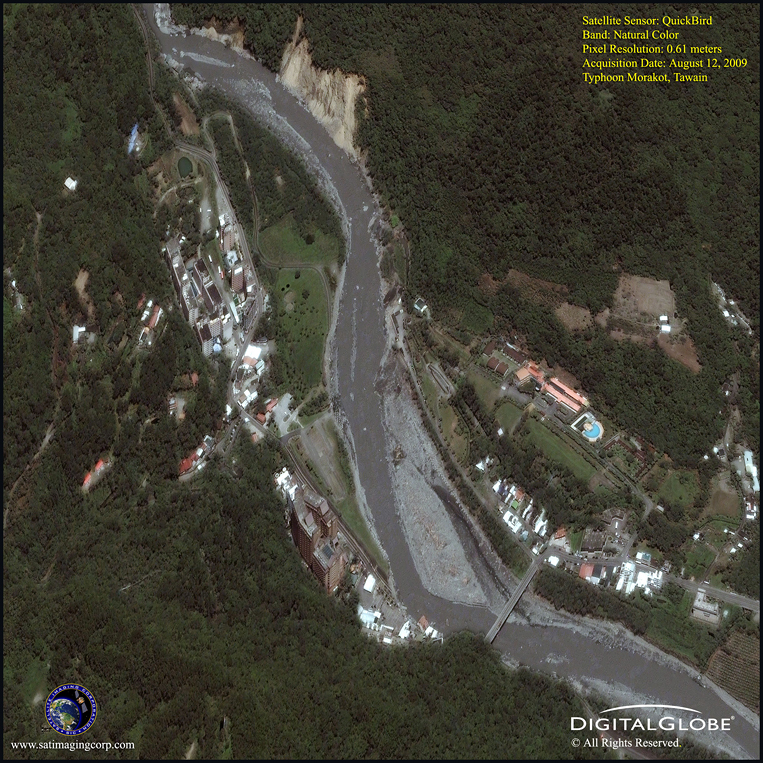 Typhoon Morakot - Taiwan - Satellite Image