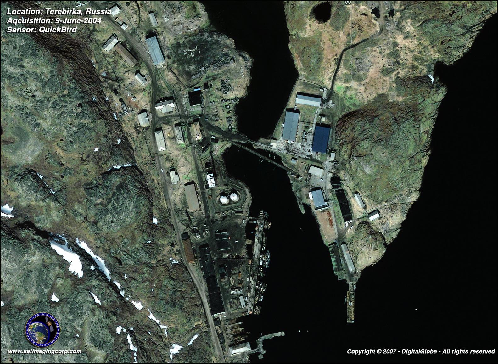QuickBird Satellite Image of Terebirka Russia Satellite Imaging