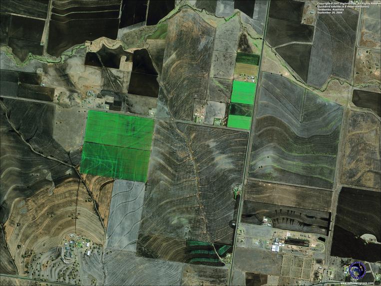 Satellite Image - Toowamba, Australia