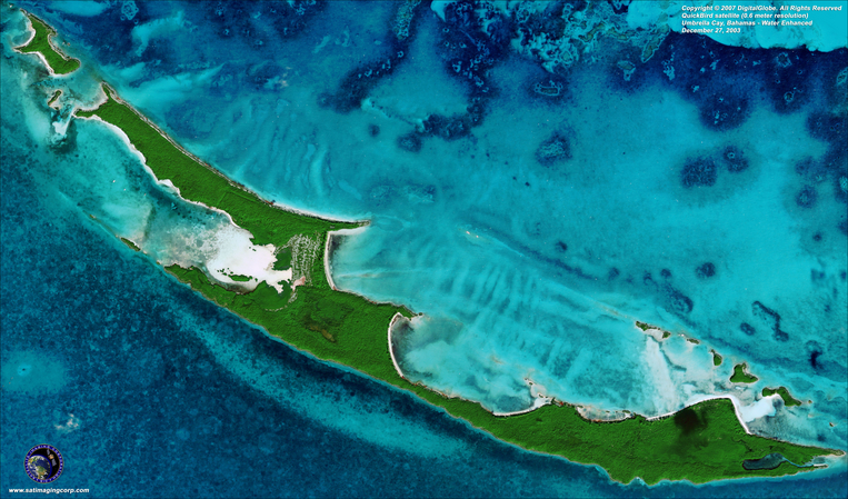 Satellite Photo - Umbrella Cay, Bahamas