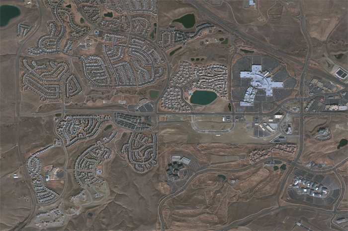 QuickBird Satellite Image of an Urban Sprawl