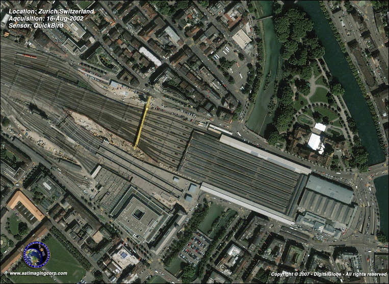 Satellite Picture - Zurich, Switzerland