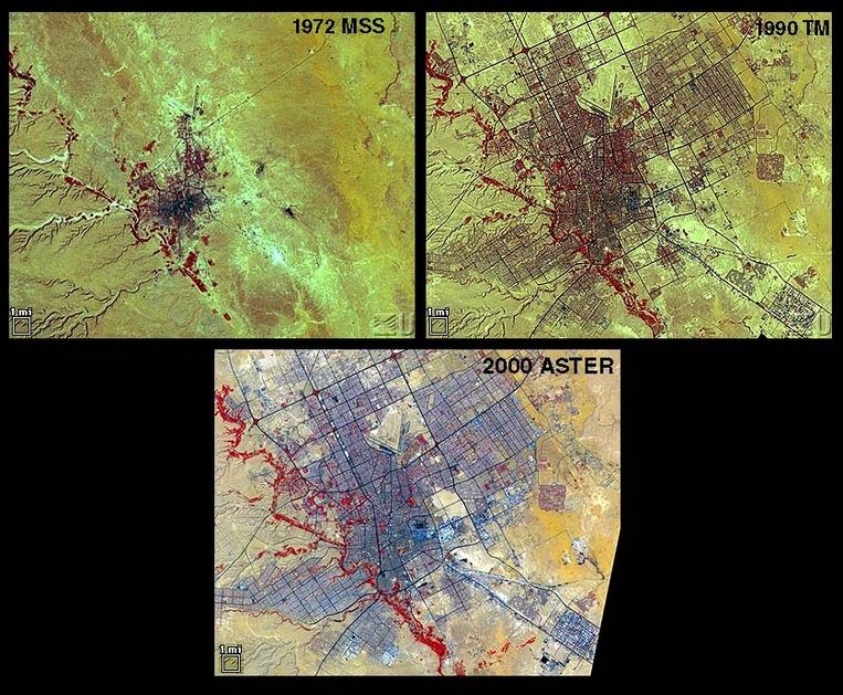 ASTER Satellite Image of Riyadh, Saudi Arabia