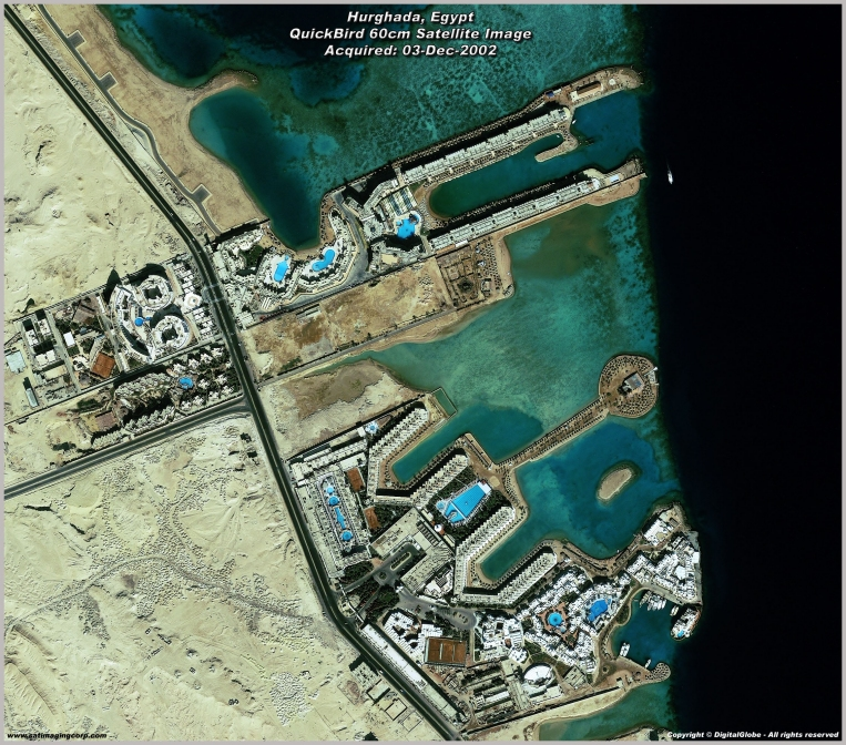 QuickBird Satellite Image of Hurghada, Egypt Resort