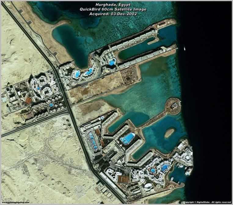 QuickBird Satellite Image of Hurghada, Egypt Resort