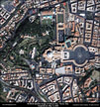 Satellite Image Vatican City - Rome, Italy