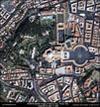 Satellite Image Vatican City - Rome, Italy