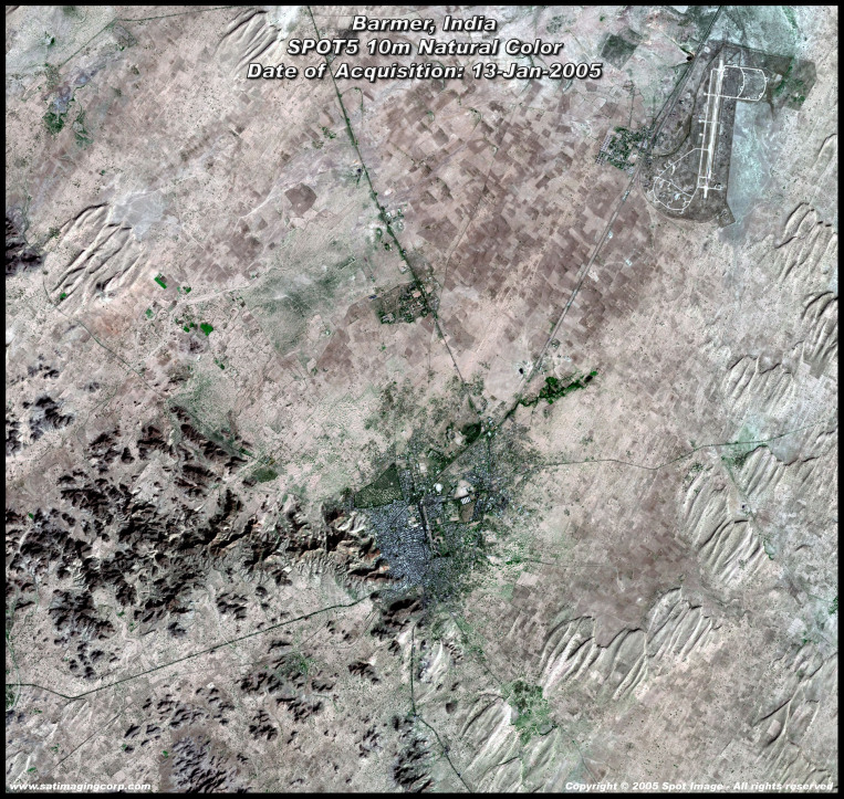 Satellite Image of Barmer, India (SPOT-5)