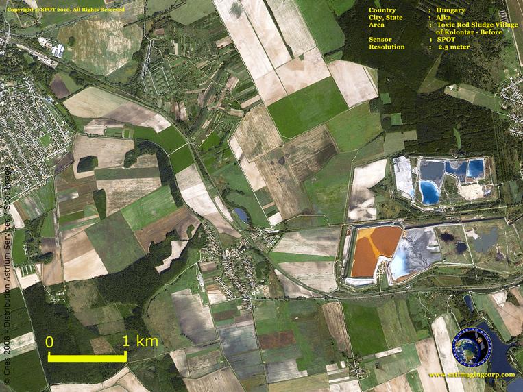 SPOT-5 Satellite Image of Hungary