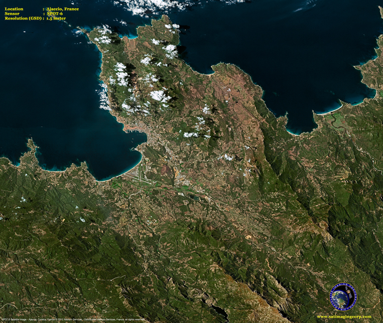 SPOT-6 Satellite Image of Ajaccio, France