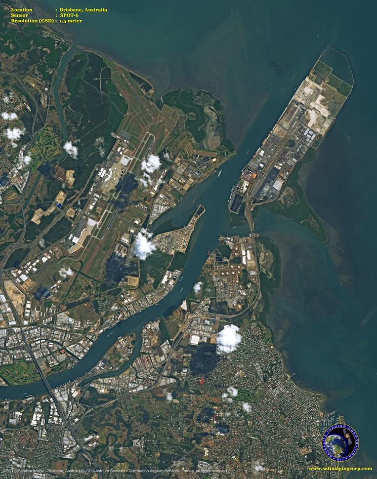 SPOT-6 Satellite Image of Brisbane, Australia