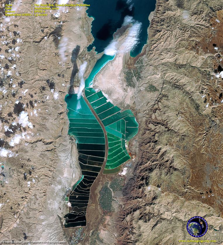 SPOT-6 Satellite Image of the Dead Sea