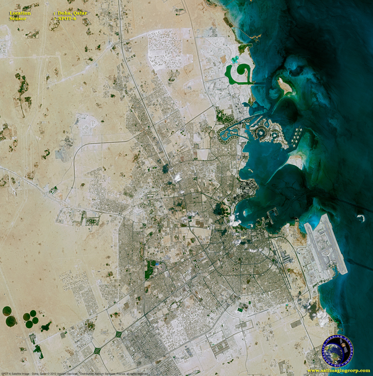 SPOT-6 Satellite Image of Doha, Qatar