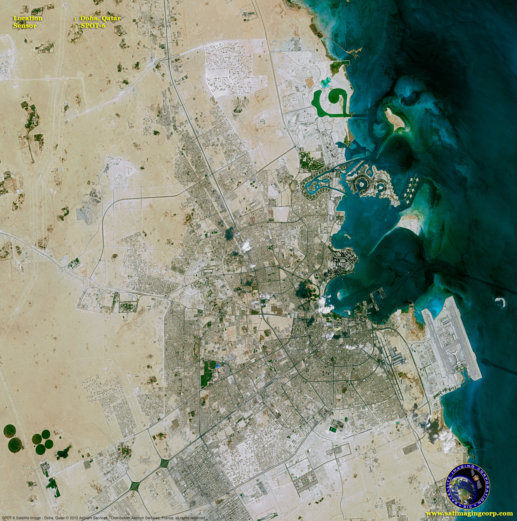 Spot 6 Satellite Image Of Doha Qatar Satellite Imaging Corp
