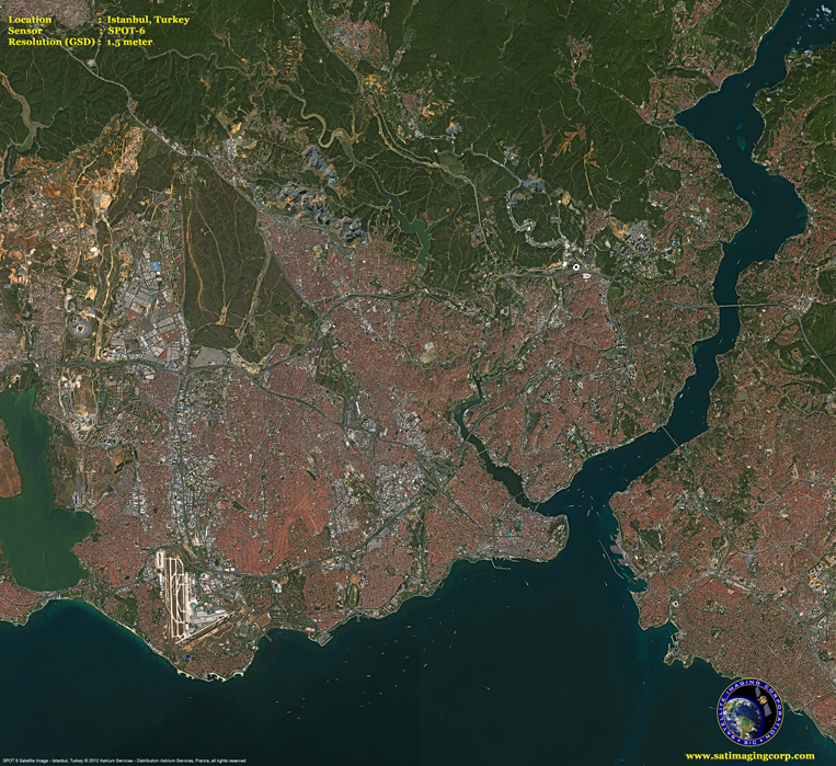 SPOT-6 Satellite Image of Istanbul, Turkey