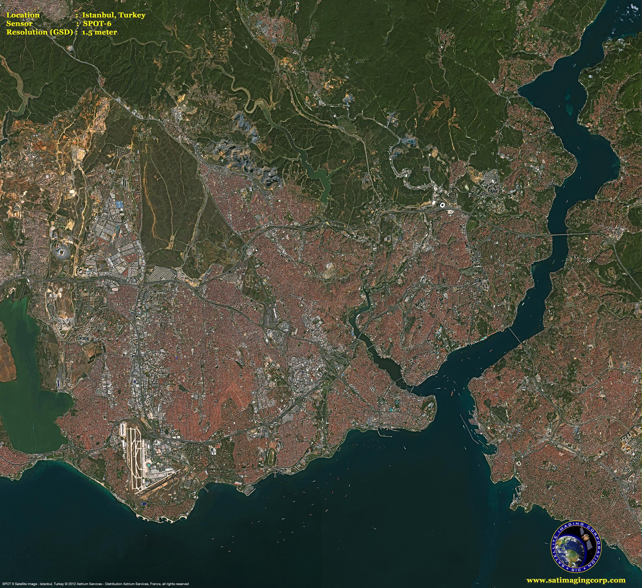 SPOT Satellite Image Of Istanbul Turkey Satellite Imaging Corp - Satellite image map