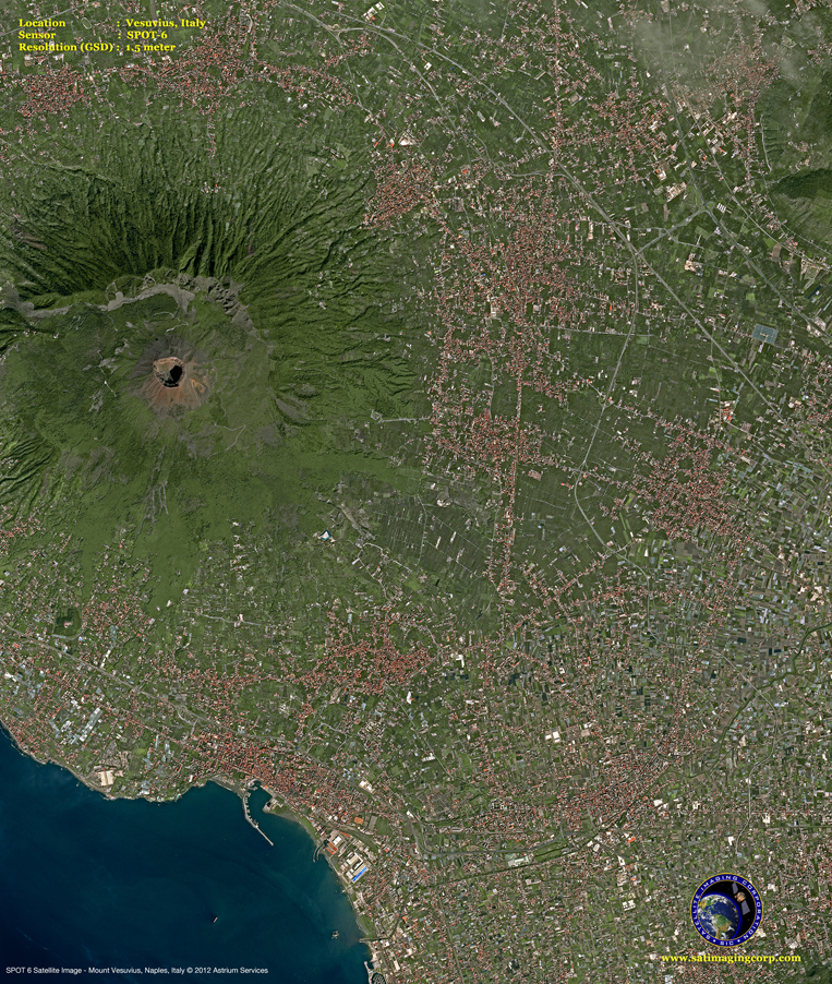 SPOT-6 Satellite Image of Mount Vesuvius