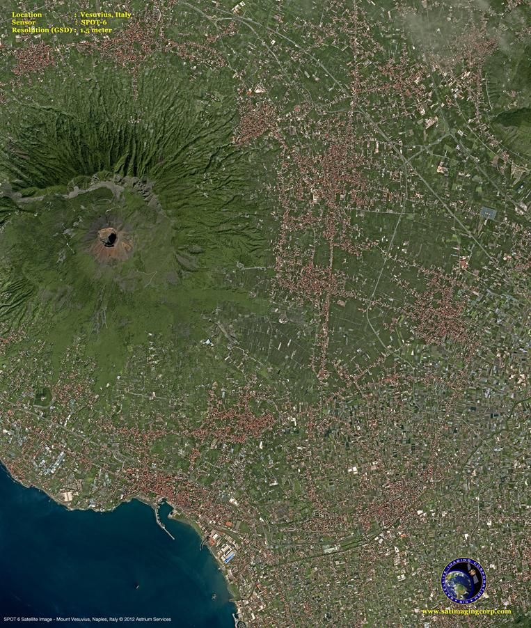 SPOT-6 Satellite Image of Mount Vesuvius
