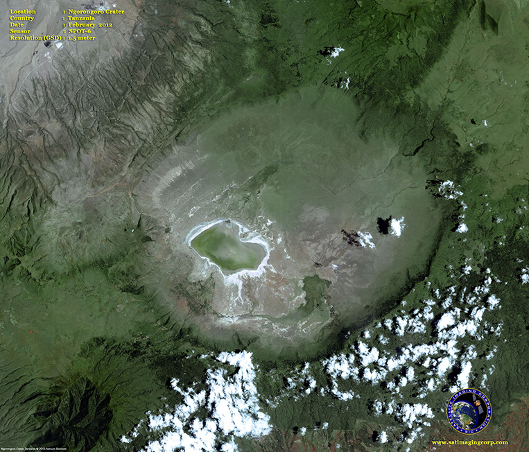 SPOT-6 Satellite Image of the Ngorongoro Crater